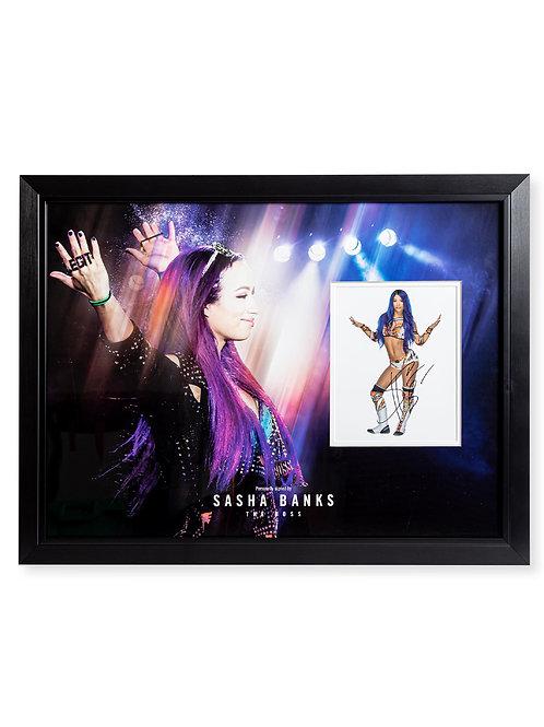 Framed Print Signed by Wrestling Superstar Sasha Banks