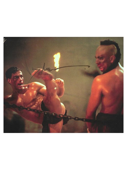 10x8 Kickboxer Print Signed in Gold by JCVD Jean-Claude Van Damme