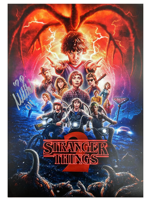 A3 Stranger Things 2 Poster Signed by Millie Bobby Brown