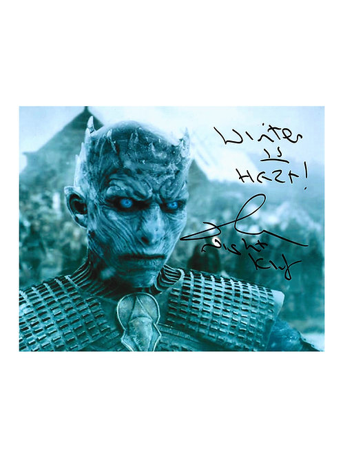 10x8 Game Of Thrones Night King Print Signed by Richard Brake
