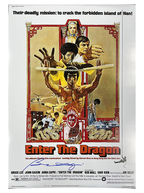 A2 Enter the Dragon Poster Signed by Bolo Yeung