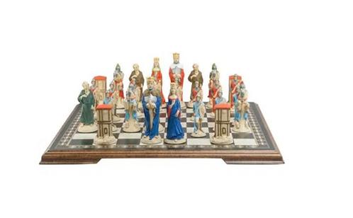 Studio Anne Carlton King Arthur & Camelot Handpainted Chess Set Pieces