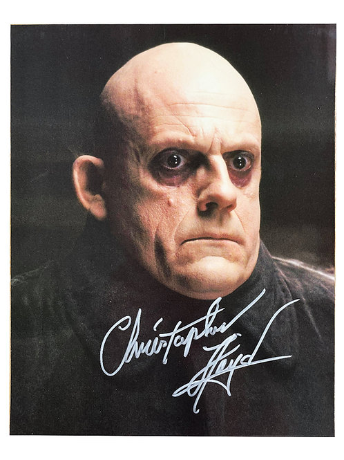 8x10 The Addams Family Print Signed by Christopher Lloyd