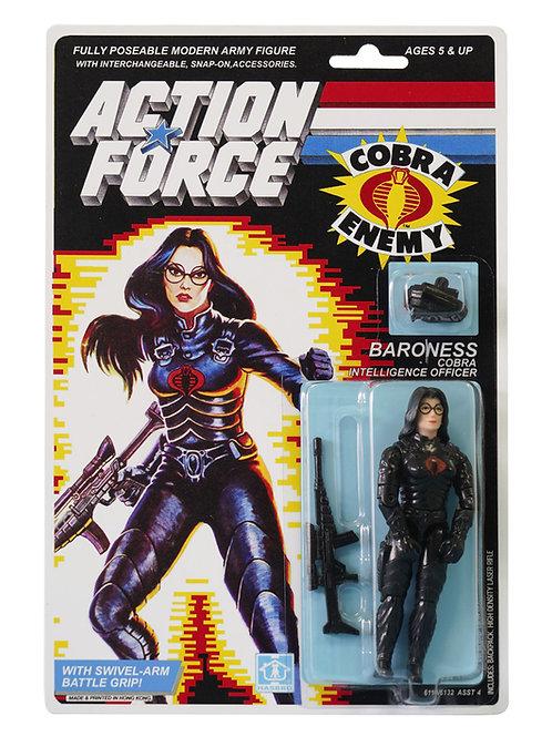 Action Force / GI Joe Baroness Cobra Intelligence Officer MOC Carded Custom