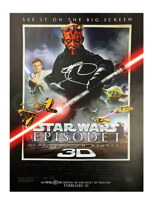 A3 Star Wars The Phantom Menace Poster Signed By Ray Park