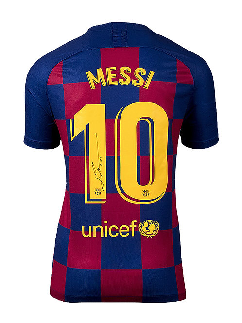 FC Barcelona Shirt Signed By Lionel Messi