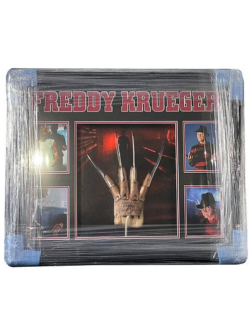 Framed LED Lit Freddy Krueger Glove Signed By Robert Englund