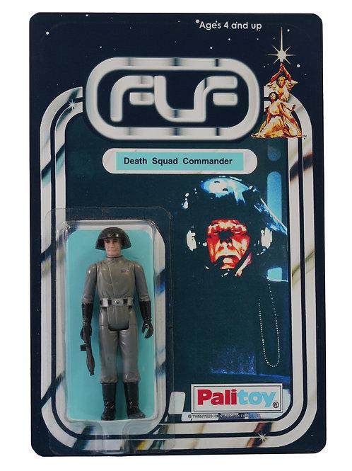 Vintage 1977 Star Wars Death Squad Commander Figure On Custom Made FTLOTF Card