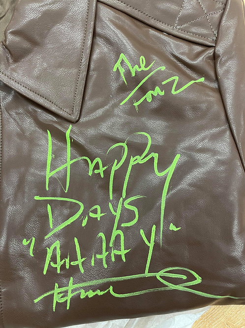 Happy Days AAAAY Authentic Fonzie Leather Jacket Signed By Henry Winkler