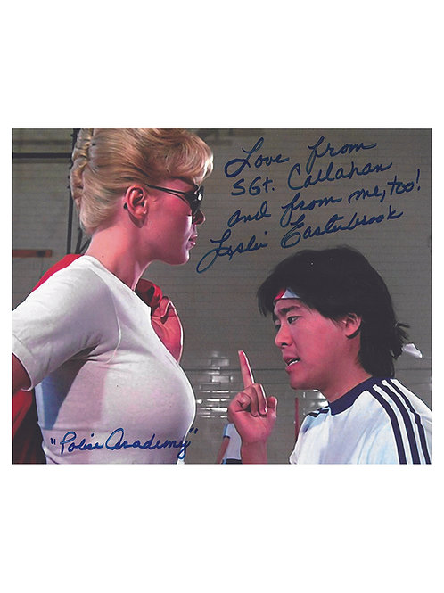10x8 Quoted Police Academy Print Signed by Leslie Easterbrook