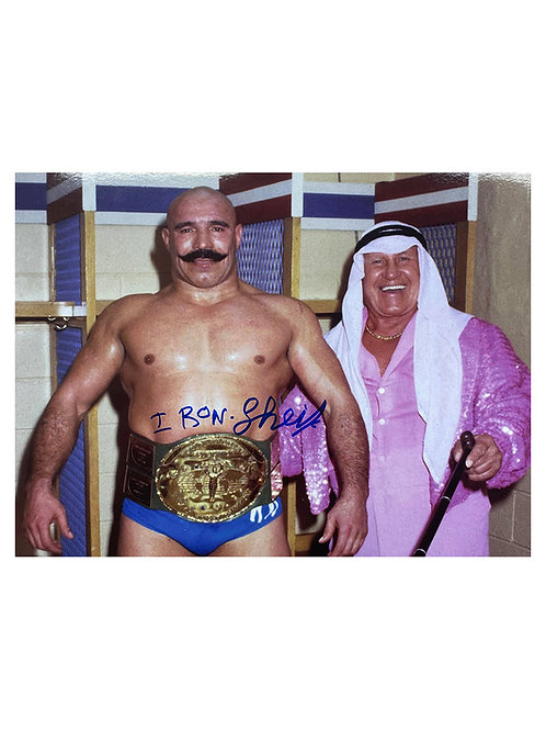 10x8 WWE WWF Print Signed by Wrestling Superstar Iron Sheik