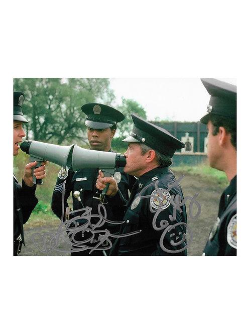 10x8 Police Academy Print Signed by Steve Guttenberg & Michael Winslow