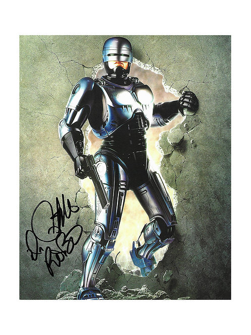 8x10 Robocop Print Signed by Peter Weller