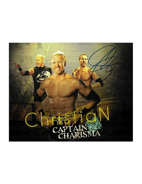 10x8 Print Signed by Wrestling Superstar Christian Cage