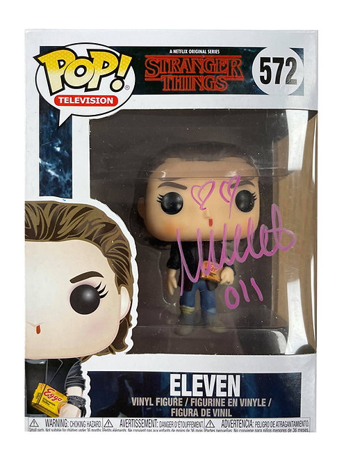 Stranger Things #572 Eleven Funko Pop Signed in Pink by Millie Bobby Brown