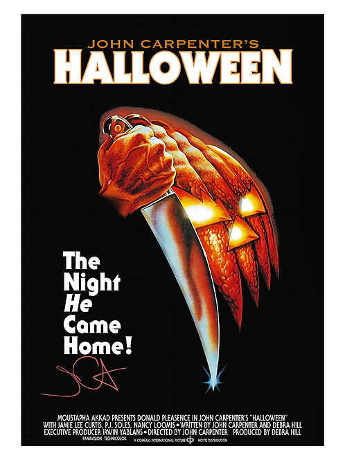A3 Halloween Poster Signed by John Carpenter