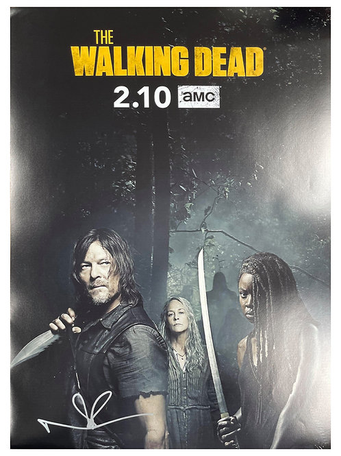 The Walking Dead A2 Poster Signed by Norman Reedus