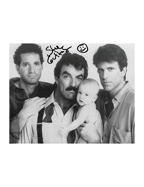 10x8 Three Men & A Baby Print Signed by Steve Guttenberg