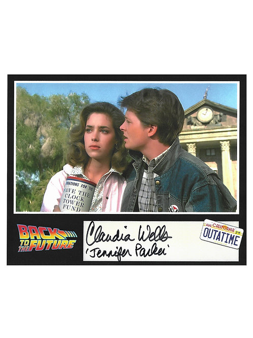 10x8 Back To The Future Print Signed by Claudia Wells