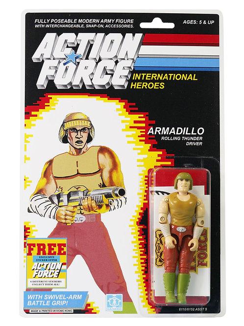 Action Force / GI Joe Armadillo Rolling Thunder Driver MOC Custom Sticker Offer