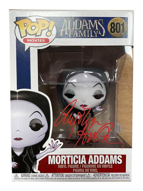 Morticia Addams Funko Pop 801 Signed by Anjelica Huston