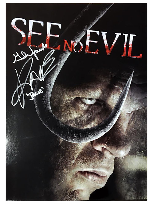 A3 See No Evil Poster Signed by Wrestling Superstar Kane