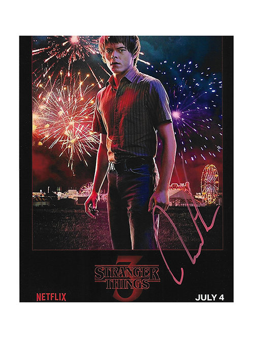 8x10 Stranger Things Print Signed by Charlie Heaton