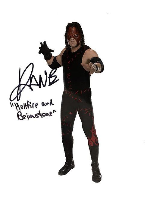 8x10 WWE WWF Hellfire & Brimstone Print Signed by Wrestling Superstar Kane