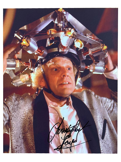 8x10 Back to the Future Print Signed by Christopher Lloyd