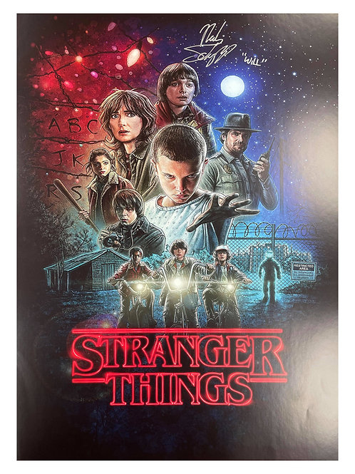 A2 Stranger Things S1 Poster Signed By Noah Schnapp