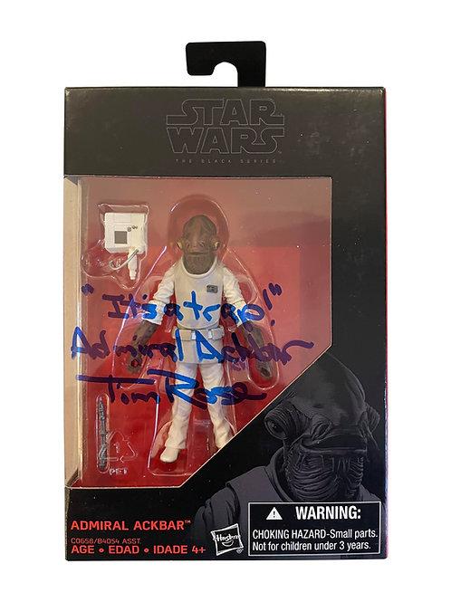 Star Wars Admiral Ackbar Black Series Figure Signed By Tim Rose