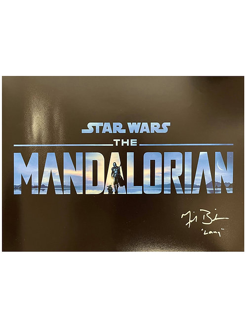 17x11 The Mandalorian Poster Signed by Michael Biehn