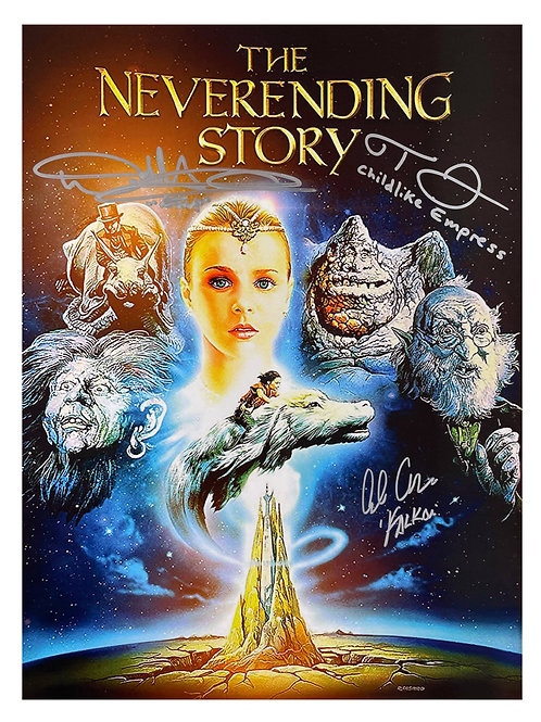 12x16 Neverending Story Print Signed by Hathaway, Stronach and Oppenheimer