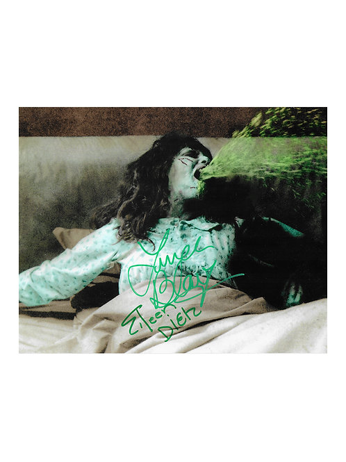 10x8 The Exorcist Print Signed by Linda Blair & Eileen Dietz