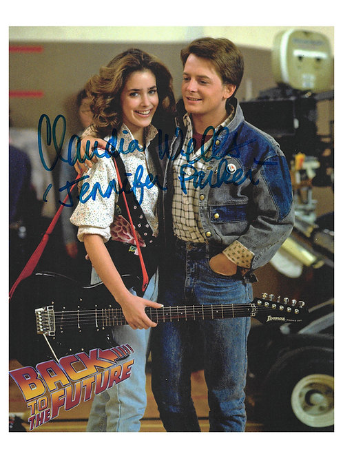 8x10 Back To The Future Print Signed by Claudia Wells