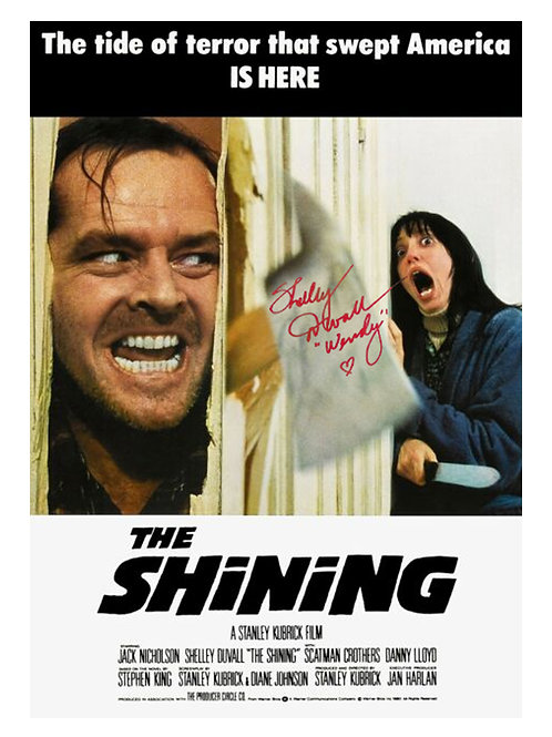 A3 The Shining Poster Signed by Shelley Duvall