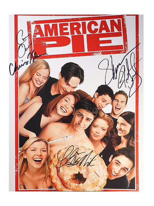12x16 American Pie Print Signed by Four Cast Members