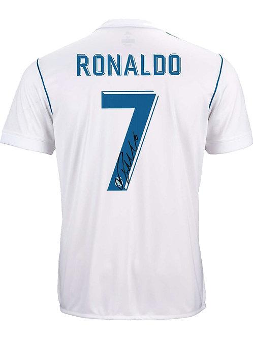 Real Madrid Shirt Signed By Cristiano Ronaldo