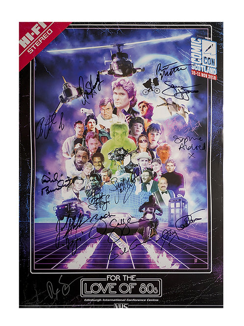 A3 Comic Con Scotland 2018 Poster Signed by 14 Guests