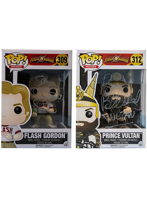 Flash Gordon Funko Pop Double Pack Signed By Sam J Jones & Brian Blessed