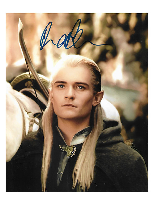 8x10 Lord of the Rings Legolas Print Signed by Orlando Bloom