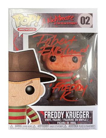 Freddy Krueger Funko Pop Signed by Robert Englund