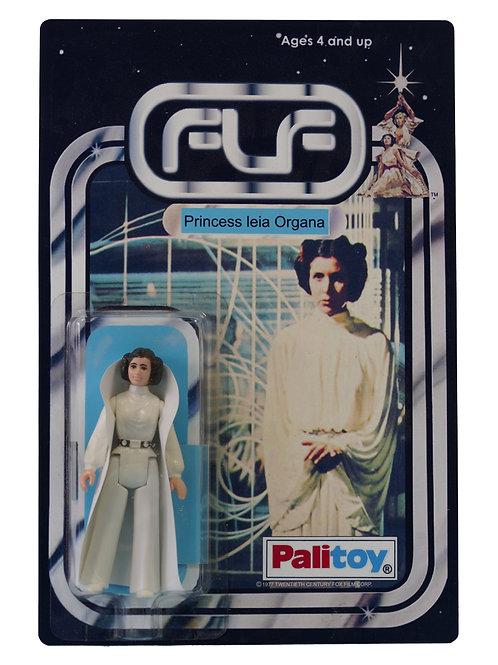 Vintage 1977 Star Wars Princess Leia Organa Figure On Custom Made FTLOT