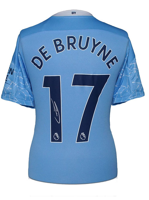 Manchester City 20-21 Shirt Signed By Kevin De Bruyne