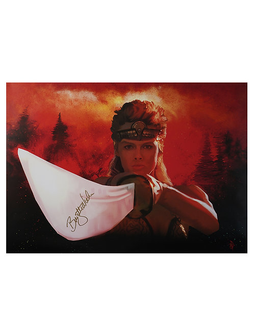 A2 Red Sonja Illustrated Art Print Signed By Brigitte Neilsen