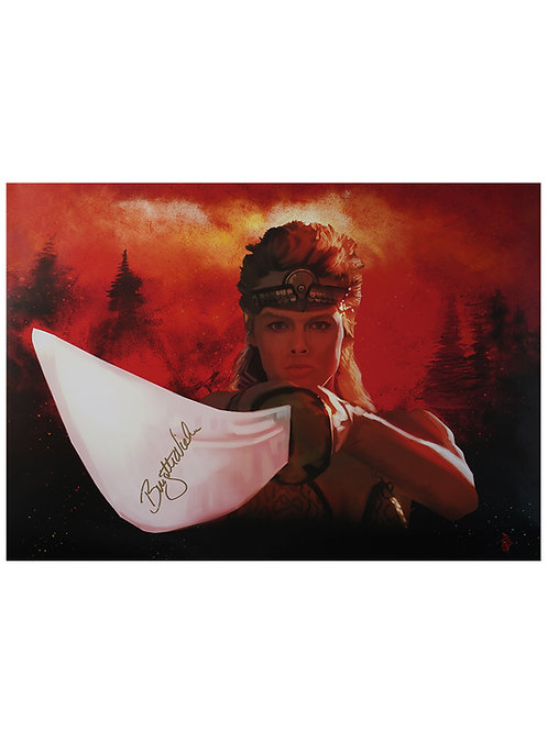 A2 Red Sonja Illustrated Poster Signed By Brigitte Neilsen