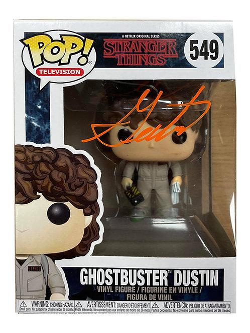 Ghostbusters Dustin Funko Pop Signed by Gaten Matarazzo