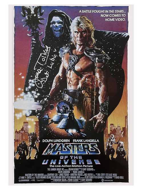 A3 Masters of the Universe Poster Signed by James Tolkan
