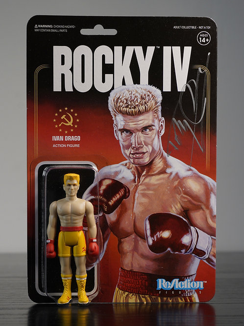 Ivan Drago Packaged Reaction Figure Signed By Dolph Lundgren