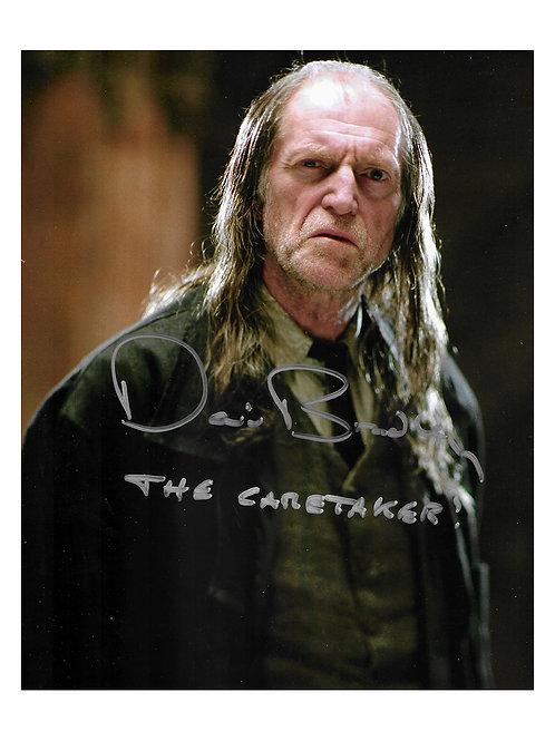 8x10 Harry Potter Print Signed by David Bradley